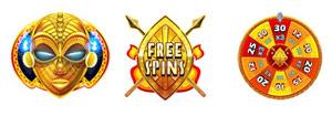 Symbols and bonus 9 mAsk of Fire